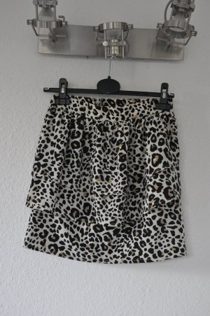 H&M Leoprint Highwaist Rock mit Volants, Leo, Blogger, Sexy