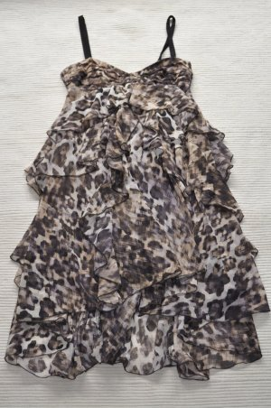 H&M leoprint kleid party abibal neu 34 xs leopard neu