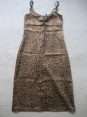 H&M leoprint kleid sexy sommer xs 34 neu