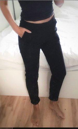 H&M Logg Chino Baumwolle weich schwarz XS 34