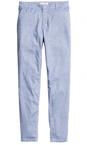 H&M L.O.G.G. Chinos white-cornflower blue cotton