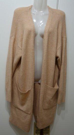 H&M LOGG flauschiger Cardigan rosa nude Gr. M (38/40) Winter Shabby Chic Mori Kei