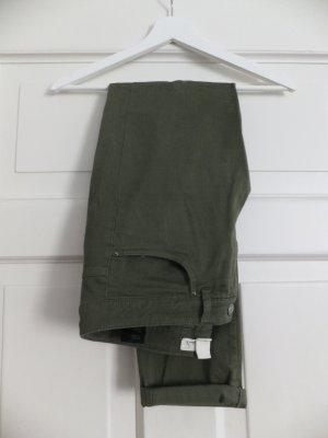 H&M Logg Hose Jeans 40 Skinny Röhre Khaki Oliv