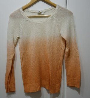 H&M Coarse Knitted Sweater apricot-natural white