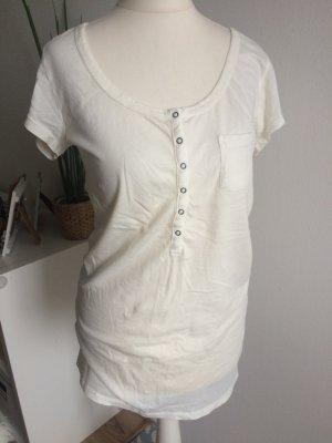 H&M Logg T-Shirt 38 M neu cremeweiß Sommer Frühling Basic
