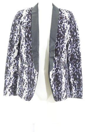 H&M Long-Blazer abstraktes Muster Casual-Look