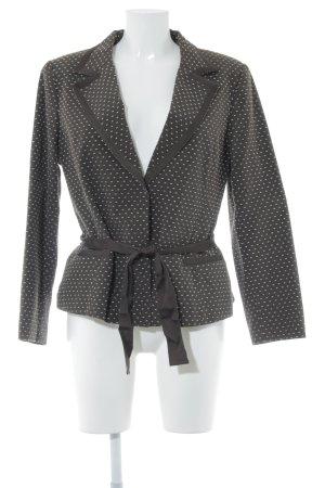 H&M Long-Blazer braun-creme Business-Look