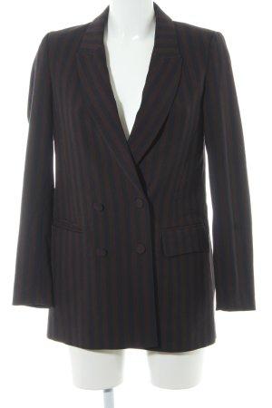 H&M Long-Blazer braunrot-dunkelblau Streifenmuster Elegant