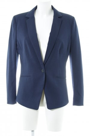 H&M Long-Blazer dunkelblau Business-Look