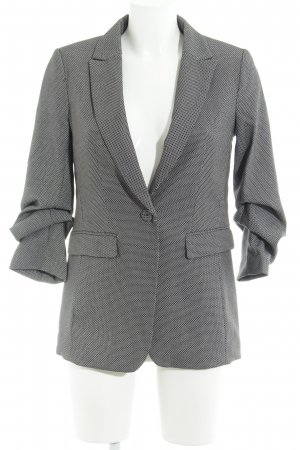 H&M Long-Blazer dunkelblau-weiß Casual-Look