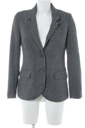 H&M Long-Blazer dunkelgrau meliert Casual-Look