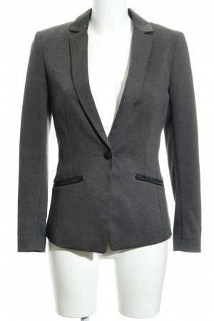 H&M Long-Blazer dunkelgrau-schwarz Business-Look