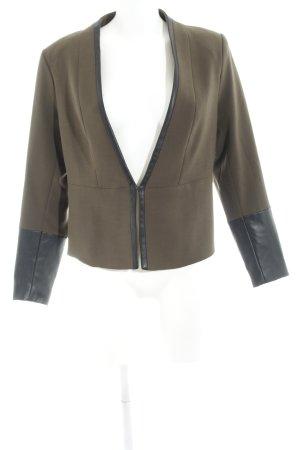 H&M Long-Blazer grüngrau-schwarz Business-Look