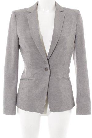 H&M Long-Blazer hellgrau-grau meliert klassischer Stil