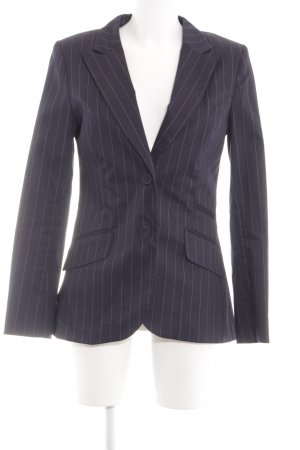 H&M Long-Blazer lila-pink Streifenmuster Business-Look