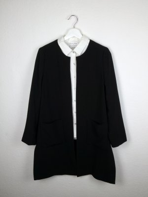 h&m long blazer mantel M 38 40 schwarz business lässig look