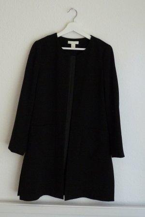H&M Long Blazer Mantel M 40 schwarz Business Look Fashion Style Blogger chic elegant