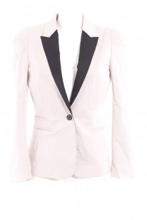 H&M Long-Blazer nude-schwarz Colourblocking Elegant