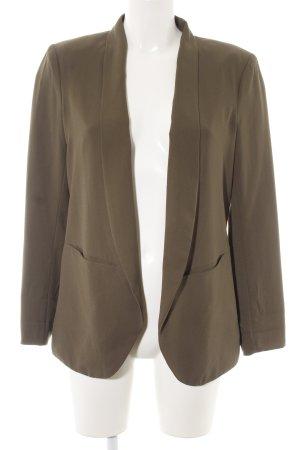H&M Long-Blazer olivgrün Casual-Look