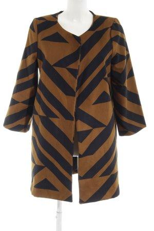H&M Long-Blazer sandbraun-schwarz