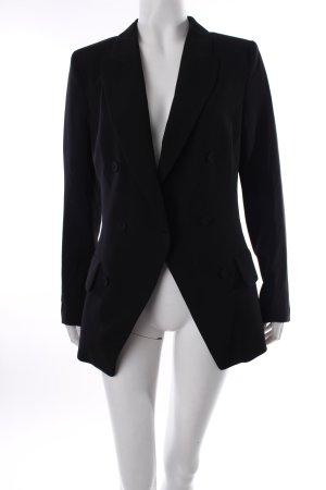 H&M Long-Blazer schwarz