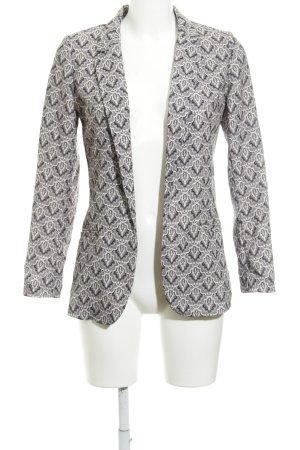 H&M Long-Blazer schwarz-creme Blumenmuster Casual-Look