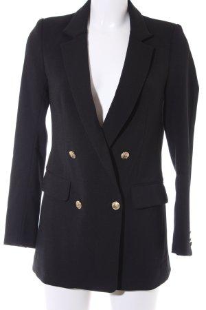 H&M Blazer largo negro-color oro estilo clásico