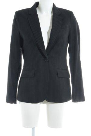 H&M Long-Blazer schwarz-hellgrau Nadelstreifen Business-Look