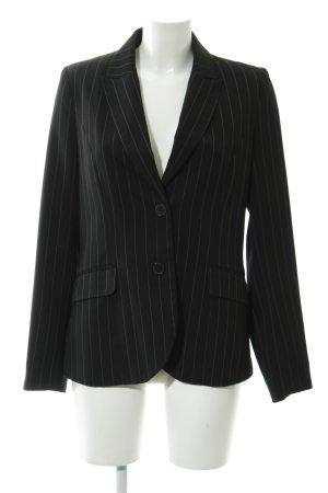 H&M Long-Blazer schwarz Nadelstreifen Business-Look