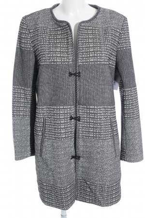 H&M Long-Blazer schwarz-weiß Hahnentrittmuster Business-Look