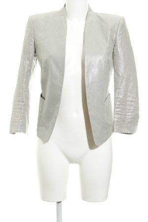 H&M Long-Blazer silberfarben extravaganter Stil