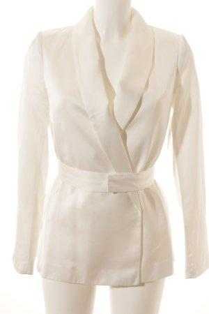 H&M Long-Blazer wollweiß Elegant
