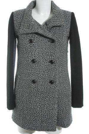 H&M Long-Blazer wollweiß-schwarz Streifenmuster Casual-Look