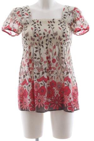 H&M Long-Bluse Blumenmuster Elegant