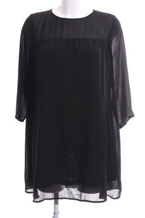 H&M Long-Bluse schwarz Business-Look