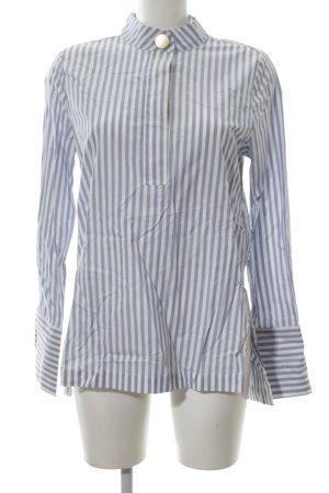 H&M Long-Bluse blau-wollweiß Streifenmuster Casual-Look