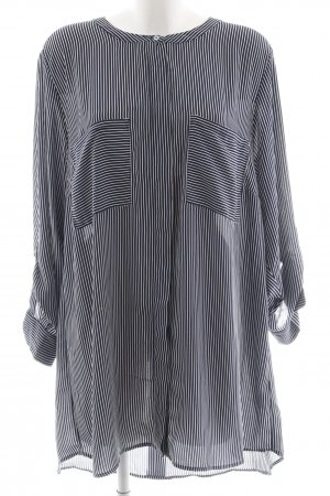 H&M Long-Bluse dunkelblau-weiß Streifenmuster Casual-Look