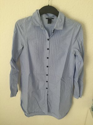 H&M Long Bluse Hellblau