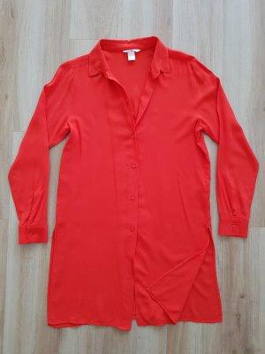 H&M Long Bluse Hemd rot Gr. 36 *** NEU ***