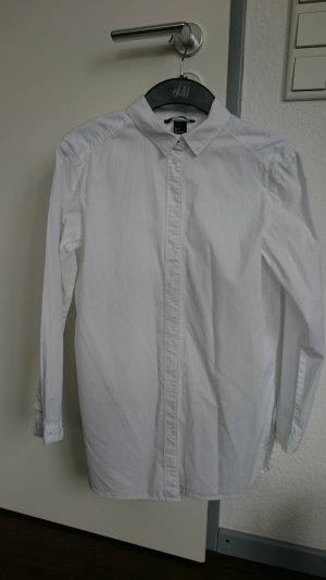 H&M Long Bluse Hemd weiß 34