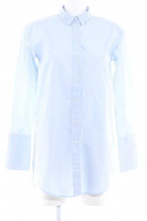 H&M Long-Bluse himmelblau Business-Look