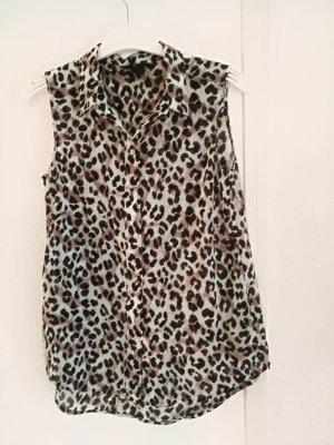 H&M Long Bluse mit Tigermuster