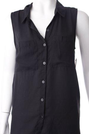 H&M Long-Bluse schwarz schlichter Stil