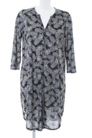 H&M Camicetta lunga nero-bianco Stampa a tema stile semplice