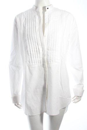 H&M Long-Bluse weiß klassischer Stil