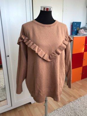 H&M Long Sweater light brown-beige