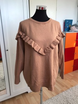 H&M Long Sweater light brown-beige