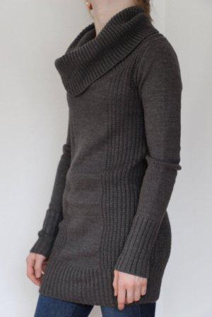 H&M Divided Robe en maille tricotées gris acrylique