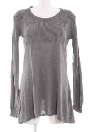 H&M Maglione lungo grigio chiaro puntinato stile casual