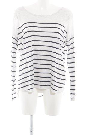 H&M Jersey largo blanco-negro estampado a rayas look casual